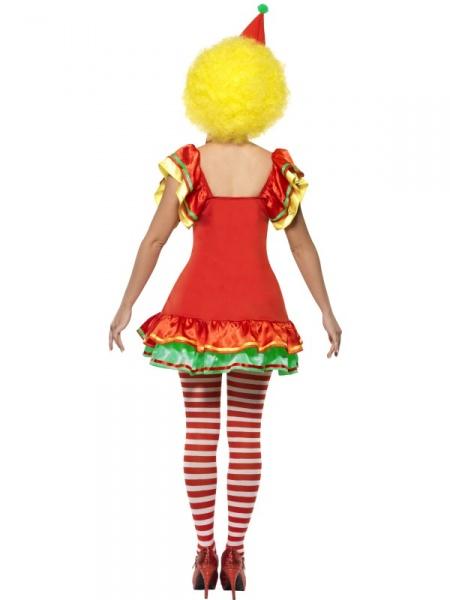 eb6ba5be7fb Kostým veselé klaunice obsahuje barevné šatičky a čelenku s čepečkem. Hodí  se na dětské oslavy narozenin nebo jakýkoliv karneval.